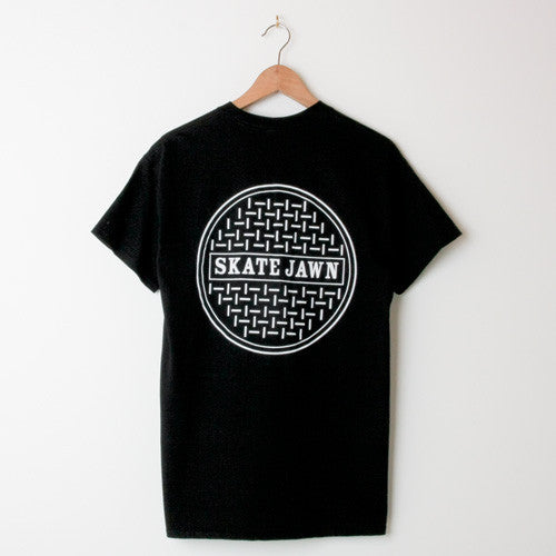 Skate Jawn Sewer Cap Black (Back print)