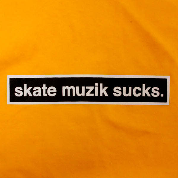 Skate Muzik Sucks Longsleeve Yellow
