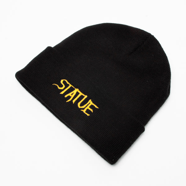 Statue Trash Embroidered Beanie Black/Gold