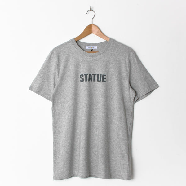 Statue Legacy Print T Shirt Heather Grey