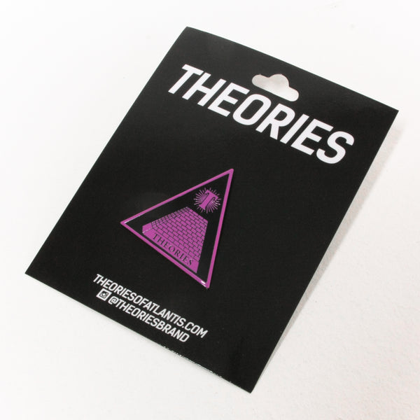 Theories Theoramid Purple Enamel Pin Badge