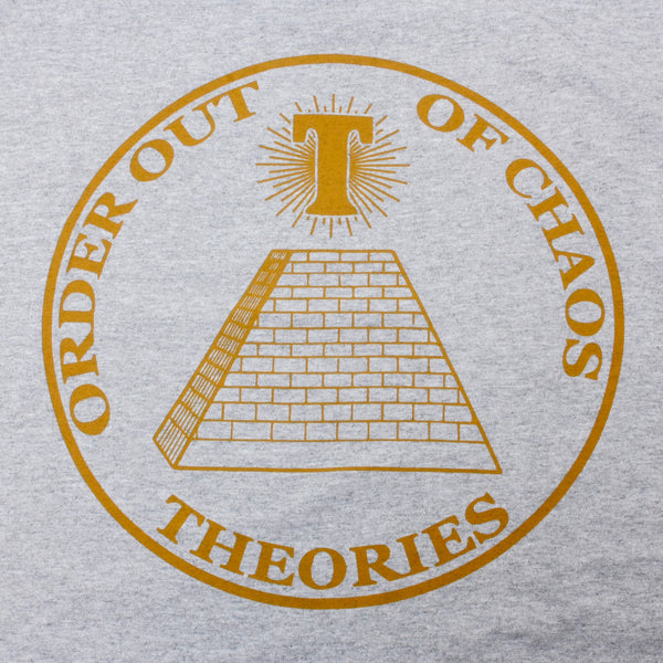 Theories Chaos Longsleeve T-Shirt Heather Grey (Back Print)