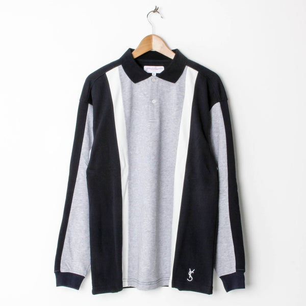 Yardsale Orleans Longsleeve Polo Athletic Grey/Navy/White