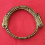 Only the slightest amount of olive oil should be used to feed your elephant hair bracelet. Too much will make the knots of your elephant hair bracelet slip.