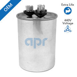 50/5 MFD 440V AC Round - APR Plus OEM Grade HVAC Motor Run Capacitor