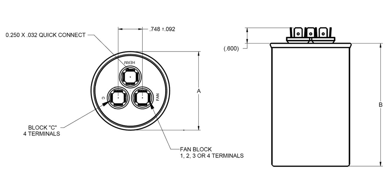 APR Capacitor Dual Round Drawing