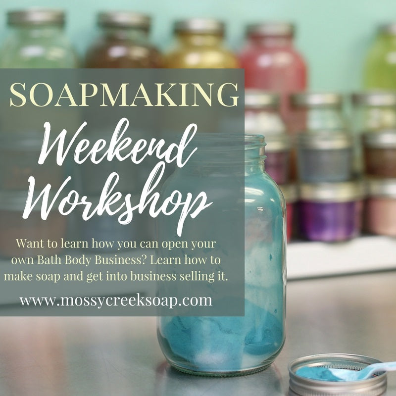 Mossy Creek Soap classes Soapmaking Workshop plus Business Startup