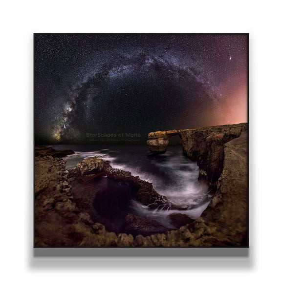 The Milky Way over Azure Window