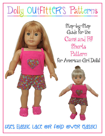 "Cami and PJ Shorts 18"" Doll Clothes"