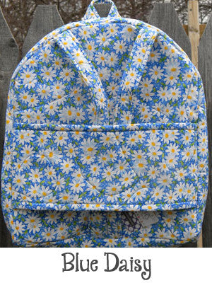 Blue Daisy Backpack Doll Carrier