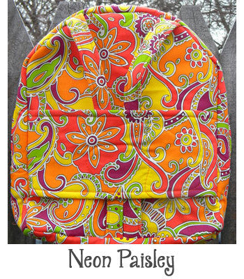Neon Paisley Backpack Doll Carrier