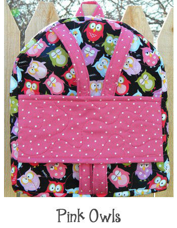 Pink Owls Backpack Doll Carrier