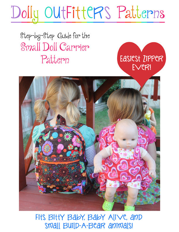 Small Doll Carrier Backpack for Girls