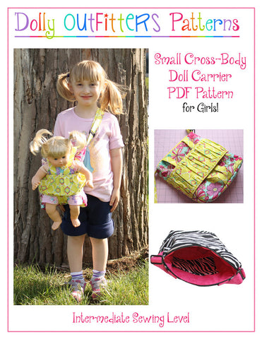 Small Cross Body Doll Carrier for Girls