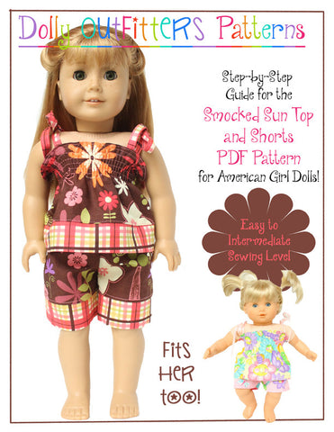 "Shirred Suntop and Shorts 18"" Doll Clothes"
