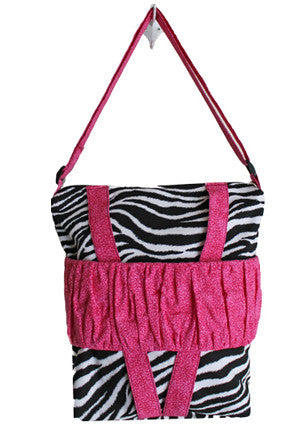 Zebra and Pink Cross Body Doll Carrier