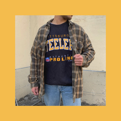 Vintage Steelers Flanellhemd Outfit
