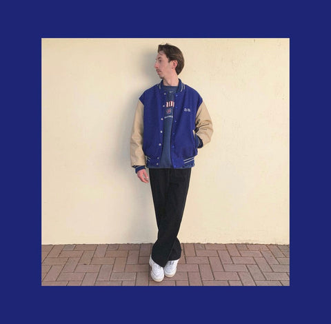 Vintage College Jacket Outfit