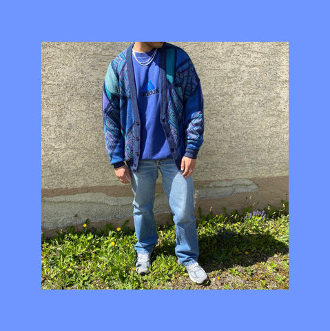 Vintage Adidas Strick Cardigan Outfit