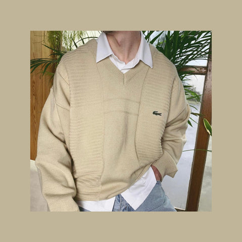 Vintage Lacoste Strick Pullover Outfit
