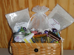 North Fork Gifts Gift Basket of Bath Teas,Candle and Chocolates