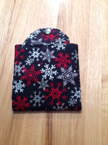 Tea Wallet-Snowflakes on Black by Specialtea Teas - Specialtea Teas