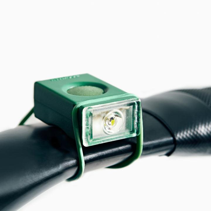 Block Light Front bike light in angle #color_green