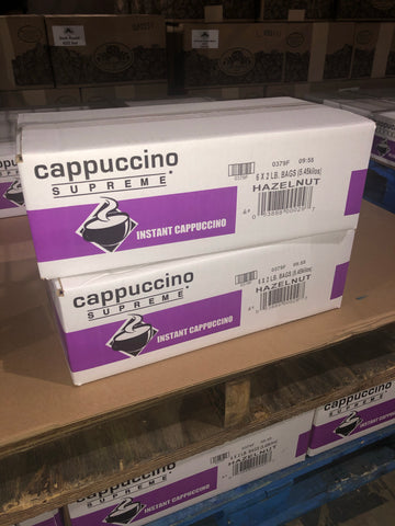 Hazelnut Powdered Cappuccino Mix (6x2lb)