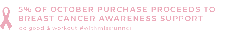 miss runner breast cancer charity donation support