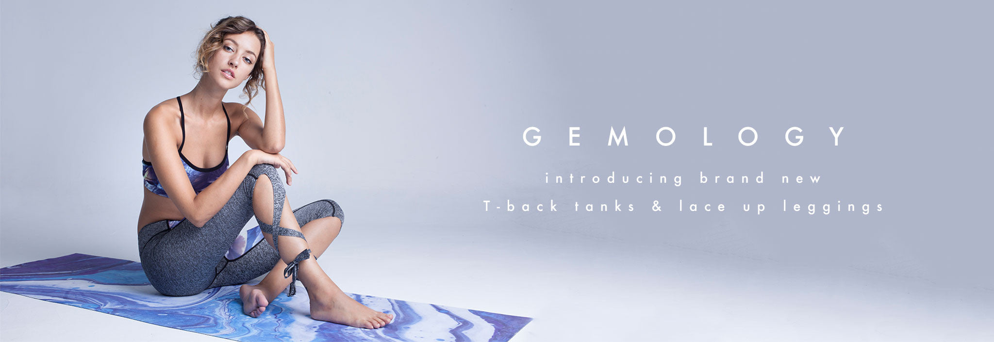 Shop Miss Runner latest sportswear collection: Gemology. Introducing brand new T-back tanks and lace up leggings. The new staples to your athleisure wardrobe.