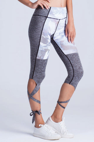 Miss Runner lace up leggings heavens noise print active wear athleisure