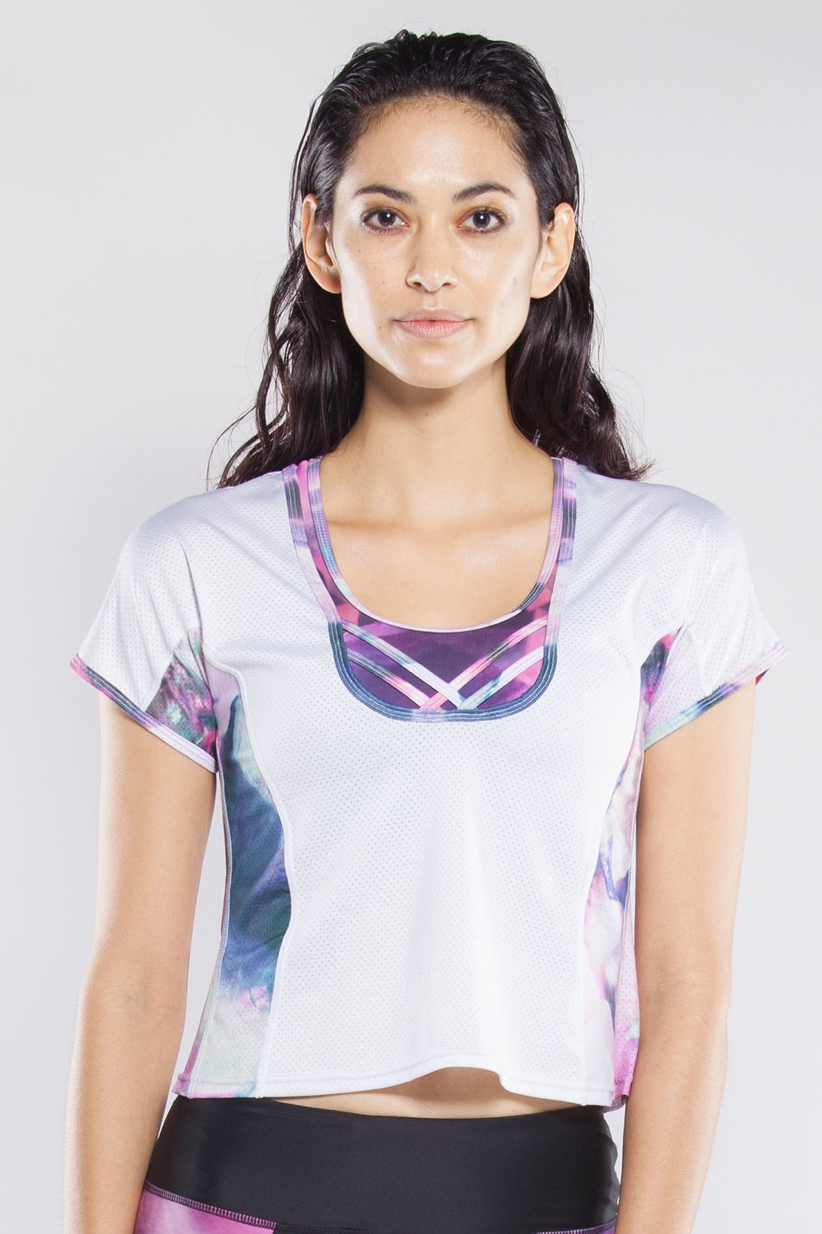 Top - Lace up top - Miss Runner - Short sleeve - workout