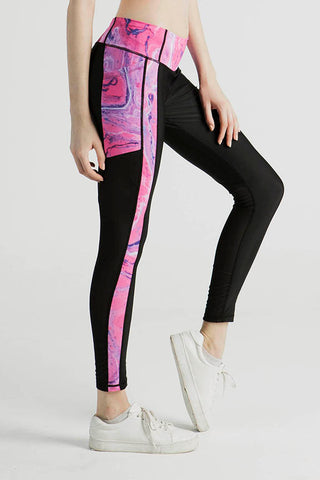 Miss Runner Pink Dream Leggings Yoga Stretchy Activewear Sportswear Pants