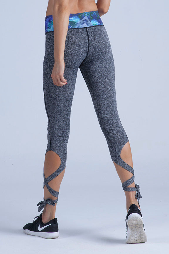 Princess Cut Lace Up Leggings