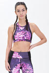 Miss Runner sports bra all high impact crop yoga top activewear sportswear mesh print floral racerback crisscross woman running gym hiking sustainable gymwear yogawear sale discounts free shipping delivery worldwide active fitness
