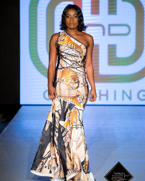 Bespoke One-Shoulder Gown By D&D Clothing