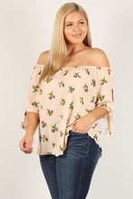 Load image into Gallery viewer, Plus Size Floral Print, Top