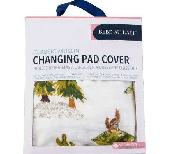Wyoming Classic Muslin Changing Pad Cover