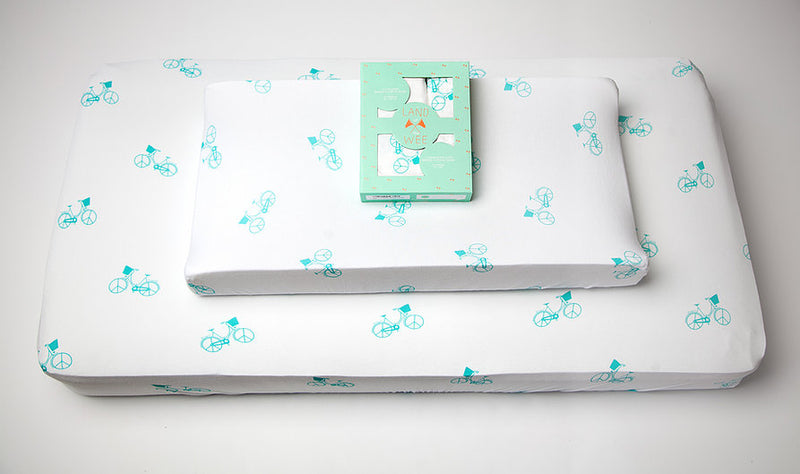 Bamboo Crib Sheet & Changing Table Cover Set