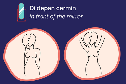 breast cancer self exam in mirror