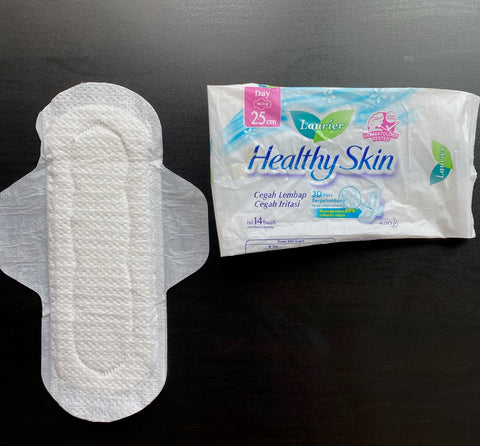 pembalut laurier healthy skin pad review