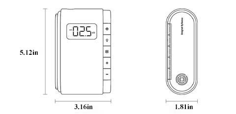 Size chart showing the size of our mini wireless air compressor.