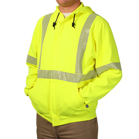 Heavyweight Hi-Vis FR Sweatshirt with Zipper - Dry Canyon FR