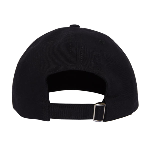 SPLIT LOGO 6-PANEL HAT - BLACK