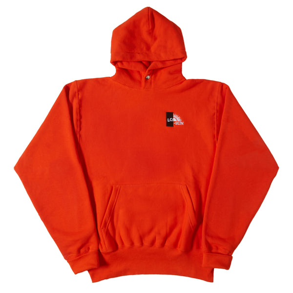 ORANGE SPLIT LOGO SNAP HOODY