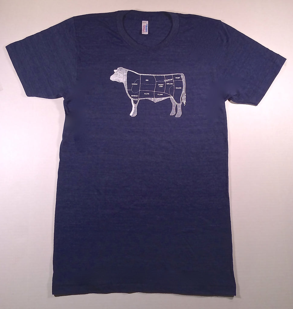 Men's Tri-Indigo Cow T-Shirt