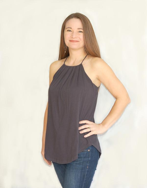 Audrey Camisole - Tissue knit thin strapped tank.
