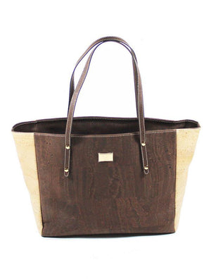 Carminda Large Vegan Cork Tote - Green Orchyd