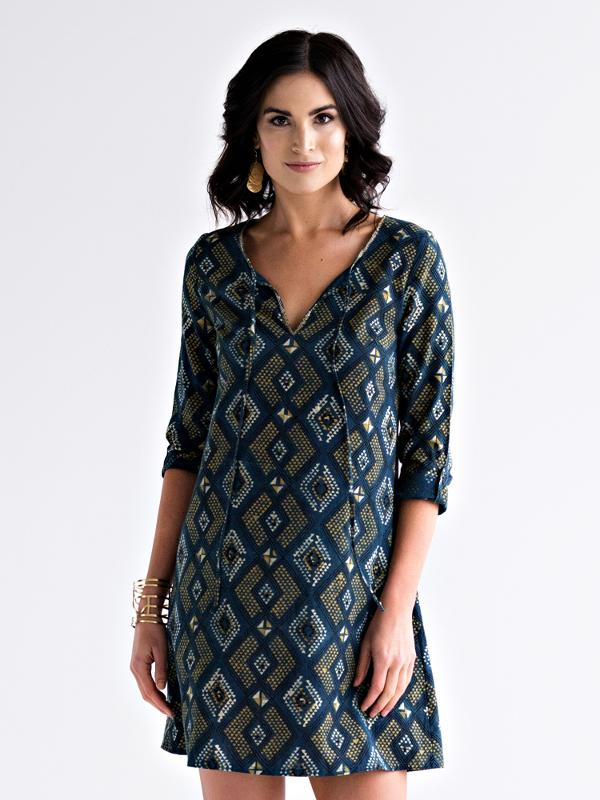 Tuscan Tunic Dress - Pacific