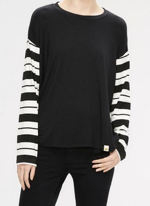 2532 Cecily Long Sleeve Tee Brussels Stripe